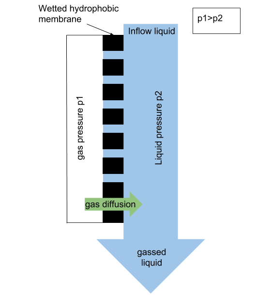 membrane gassing diagram schema